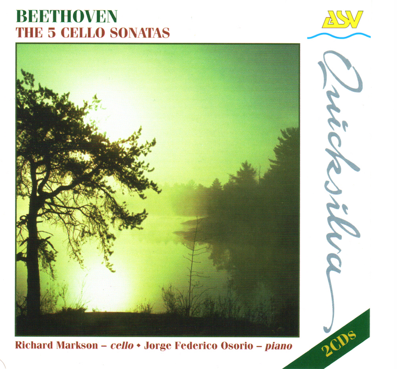 Beethoven 5 Cello Sonatas - Richard Markson, cello